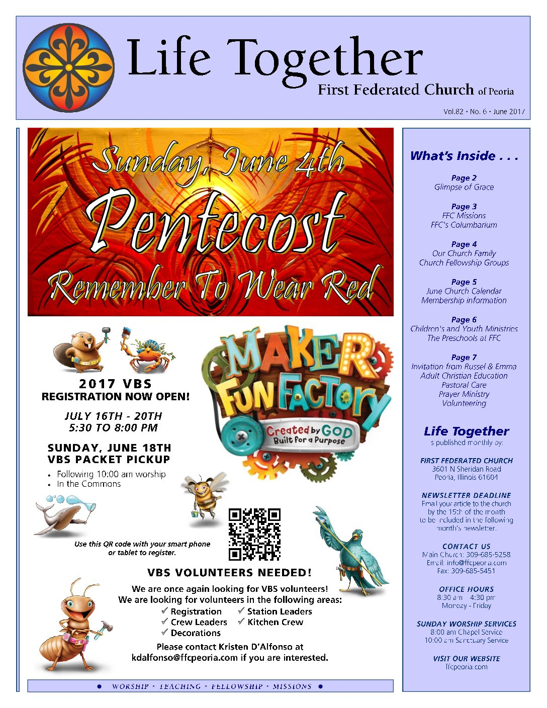 LT June 2017 FOR WEBSITE   First Federated Church of Peoria